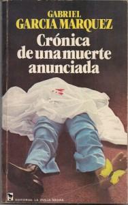 Capa do livro Crónica de una muerte aunciada