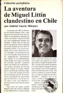 Capa do livro La Aventura de Miguel Littín Clandestino en Chile
